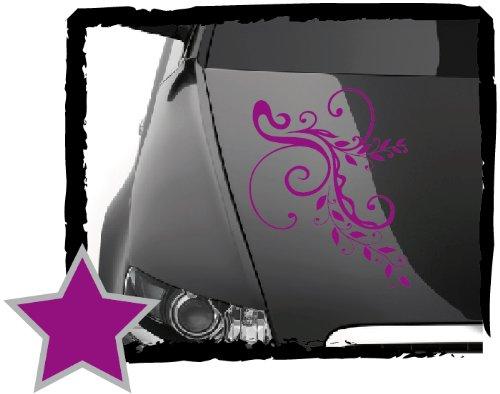 DD Dotzler Design Tuning V1 Blumenranke Floral Aufkleber für Motorhaube Heckscheibe Autoaufkleber (60 x 40 cm violett)