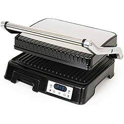 Venga! VG COG 3001 Presse à paninis/sandwiches en acier inoxydable et plastique, 2000W, Noir