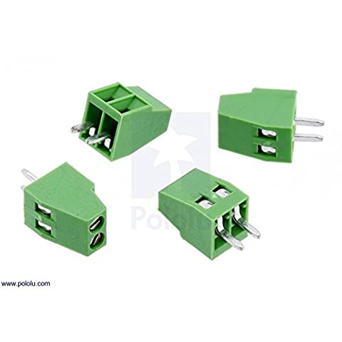 Screw Terminal Block: 2-Pin, 0.1_ Pitch, Side Entry (4-Pack)