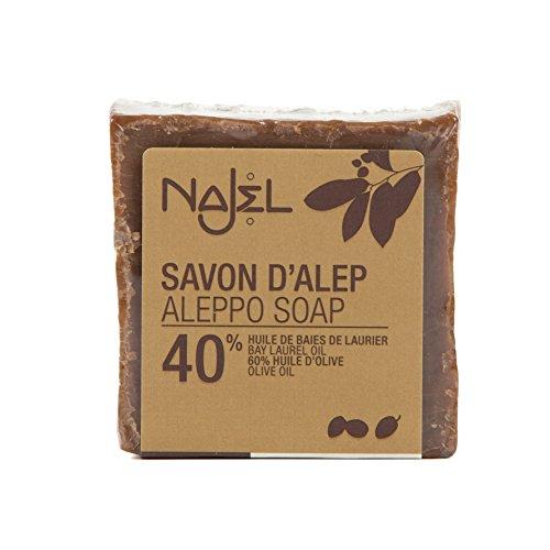 Najel - Jabon de Alepo con 40% huile de baies de laurier, 1 unidad