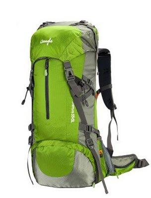 Cinny Klettern Taschen wasserdicht Wandern outdoor Rucksack Ripstop 50L 60L green-50L