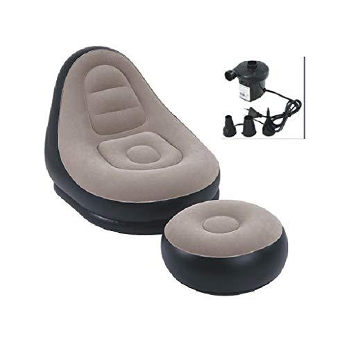 EGCLJ Aufblasbare Liege-Couch - Aufblasbare Liege Mit Fußschemel-Rest, Lounge Erwachsene Kinder Tragbare Couch Für Camping, Wandern, Reisen, Strand (Farbe : C)