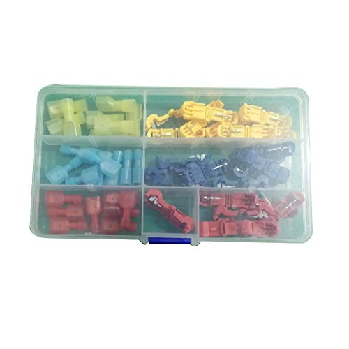 Fangfeen 18/30 / 48pcs T-Tap Scotch Lock-Wire Connectors Hochleistungs-Schnell Splice Crimp (Scotch-lock-kit)