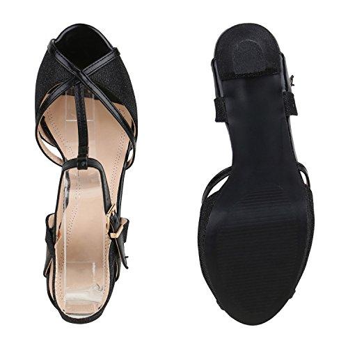 Party Damen Sandaletten | Glitzer High Heels | Plateau Sandaletten Strass Nieten | Damenschuhe Snake Lack | Stilettos Schnallen Schuhe Schwarz Schwarz