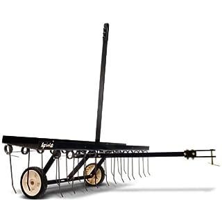 Agri-Fab AG45-0295 48-inch Working Width Spring-Tine Dethatcher - Black