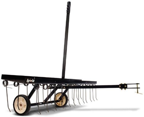 Agri-Fab Spring-Tine AG45-0295 Vertikutierer, Arbeitsbreite 122cm, Schwarz
