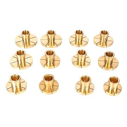 Alucy Schmuckherstellung Maschinenzubehör Ring Clip Kupfer Armband Clip Kupfer Schmuckzubehör Gold Tool Copper Sleeve Set(12-teiliges Armband-Set)
