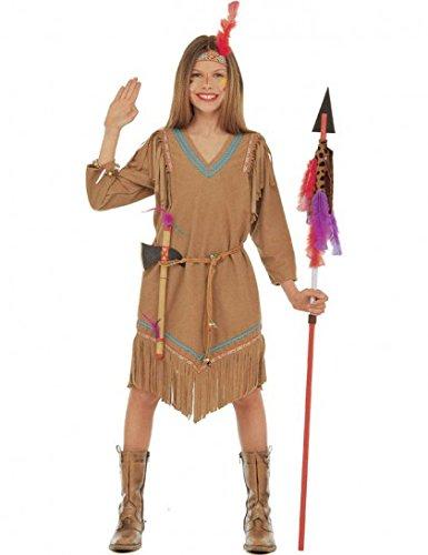 Widmann WIDMAN–Indianer-Kostüm des Westen für Mädchen, Gr. 10(42927)
