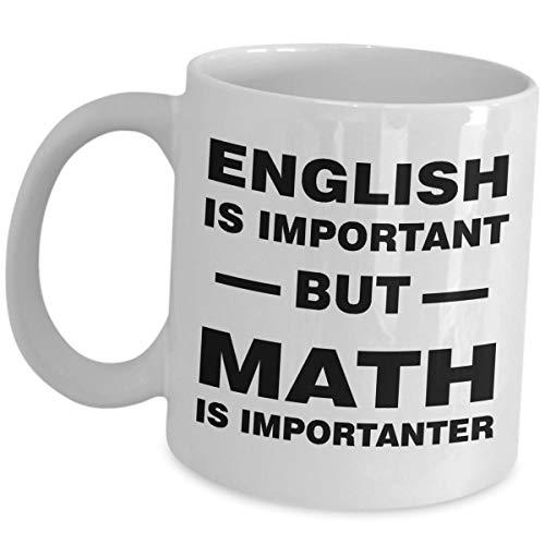 Mathematik-Tasse für Lehrer, Geschenkideen für Mathematik, Professor, lustige süße Gag-Wertschätzung, Kaffeetasse - Englisch ist aber Mathematiker Major Lover Geek Award Nerd Spruch Frauen Männer