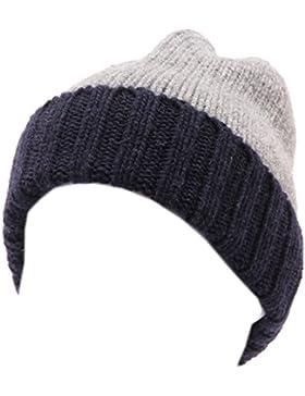 4315U cuffia bimbo CATYA grigio blu lana hat wool kid