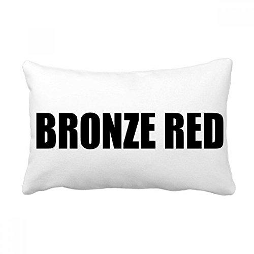 DIYthinker Bronze Rot Farbe Schwarz Namen Werfen Lendenkissen Kissenbezug Startseite Dekor-Geschenk 16 Zoll x 24 Zolls Mehrfarbig -