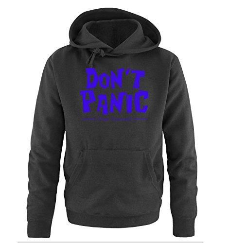 Comedy Shirts - DON'T PANIC - Dope Diamond - Uomo Hoodie cappuccio sweater - taglia S-XXL different colors nero / azzurro