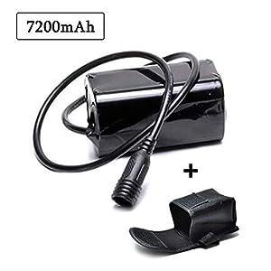 lillimasy Akkupack für Fahrrad, 4×18650 Batterie Pack, Wiederaufladbarer Akku für Cree T6 U2 Licht – Schraube Anschluss