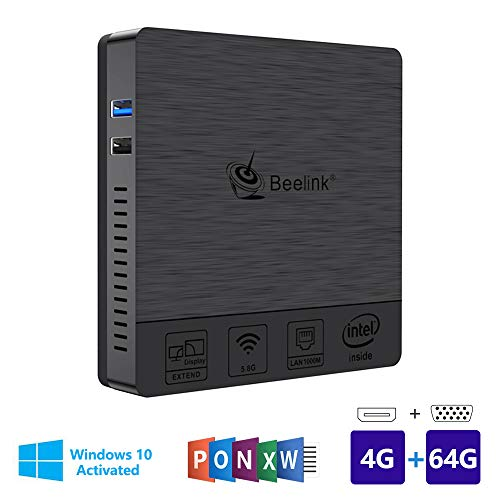 Beelink BT3Pro Multi Media Desktop Full 4K HD H.265 Smart Mini PC Intel Atom x5-Z8350 Prozessor 4GB+64G / 4K / 1000Mbps LAN/HDMI/VGA / 2.4G+5.8G Dual WiFi - Linux Pc
