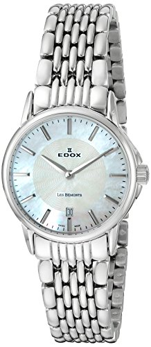 Edox Women's Quartz Watch Analogue Display and Stainless Steel Strap 57001 3M NAIN