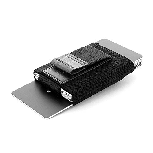 """Jaimie Jacobs Minimalist Slim Wallet and Card Holder for Men and Women """"Nano Boy"""" (Black)"""