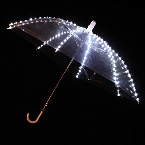 Wgwioo Glühender Transparenter Regenschirm, LED Licht Leuchtender Regenschirm Für Tanz ()