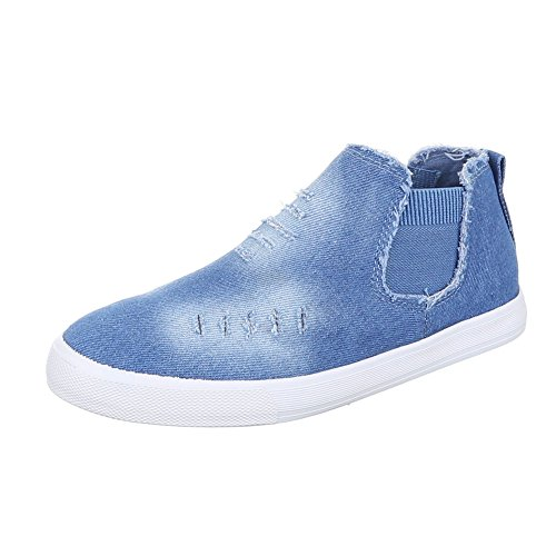 Ital-Design - Pantofole Donna Hellblau