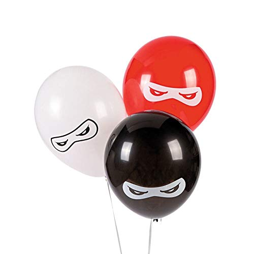 Fun Express BB13628879 Ninja Warriors 11 in. Latex Balloons