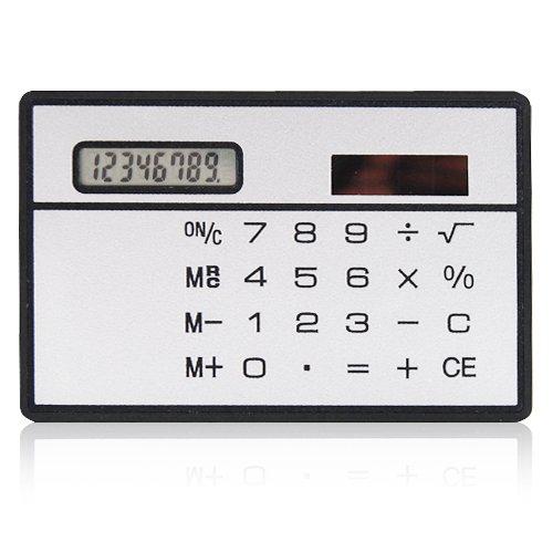 Tasche Slimline solarbetriebene Rechner Kreditkartenformat