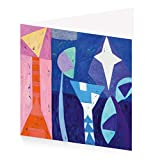 Royal Academy Gillian Ayres Evening Star Lot de 10 cartes de Noël et enveloppes 15 x 15 cm