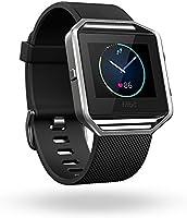 Fitbit Blaze Smart Fitness Watch, Orologio con Touchscreen e GPS, Wireless, Monitoraggio Battito Cardiaco, Sonno e Attività Fisica, Taglia L, Nero