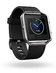Fitbit Blaze Smart Fitness Watch, Large (Black/Silver)