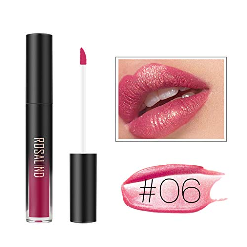 ROSALIND Fashion Waterproof Glitter Liquid Lipstick Cosmetic Sexy Lip Gloss (F)