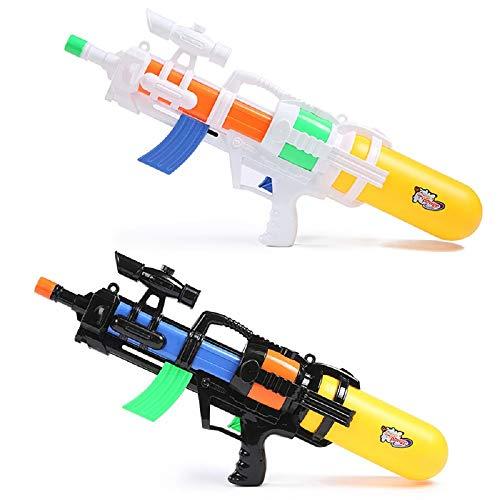 DFB Kinder Spielzeug Wasserpistole Pull Typ Hochdruck und Große Kapazität Wasser Spritzen Spielzeug Große Erwachsene Strand Pumpe Wasser Schießen Gun Long Range (66 cm) ( Color : Black , Size : L )