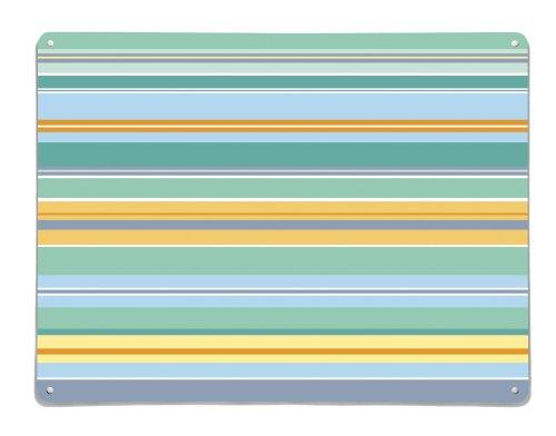 Großer Magnetisches Whiteboard, Magnettafel, Trocken Abwischbar, Wandbild Aus Metall - Ausführung: Streifen - Küste (horizontal), 75cm x 55cm (Küste Streifen)