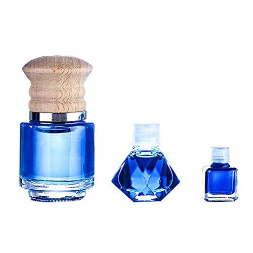 dragonaur Auto-Lufterfrischer Duft Parfüm Flasche zum Aufhängen Ornament, glas, Blue + Ocean Scent, S