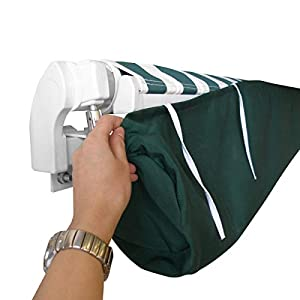 Baogu Markisenabdeckung Abdeckung Schutzhülle für Markisen Wasserdicht Grün (2m)