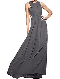 sunvary una línea Jewel cuello vestidos de fiesta Prom Fiesta de invitados para boda vestidos