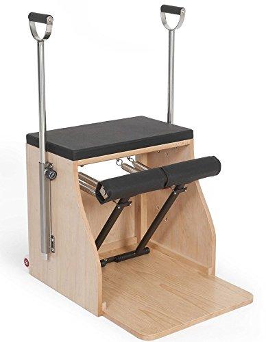 Elina pilates. combo chair_base legno - sedia pilates, complemento ideale per gli studi pilates. materiale di alta qualità. perfetta stabilità.