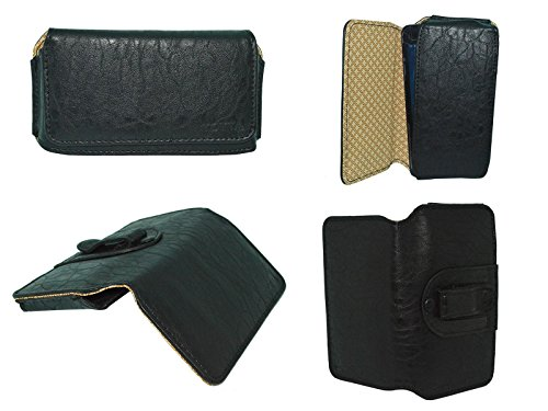 TOTTA Universal PU Leather Belt Pouch For Micromax Yu Yureka Plus- BLACK