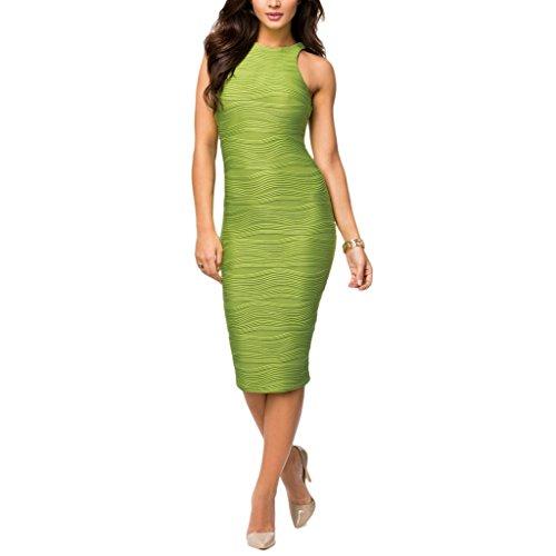 Waooh - Kleid Mit Wellenmuster Geprägt Boyd Grün