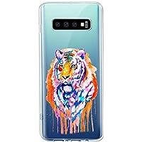 Oihxse Compatible con Samsung Galaxy S11 Plus Funda Suave Gel TPU Silicona Cristal Transparente Carcasa Acuarela Animal Pintado Patrón Protectora Estuche Bumper Caso Case (B4)