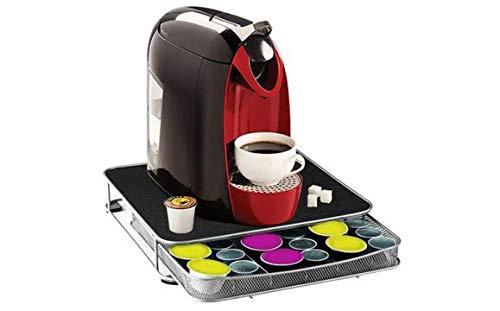 Guilty gadgets  macchina da caffè con cassetto porta capsule per nespresso/capsule dolce gusto–30–60capsule
