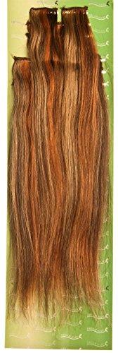 'Dream Hair Extensions à clip Lot de 8 Pièces lisse 22 Longueur 56 cm blond/brun méché Extensions de cheveux
