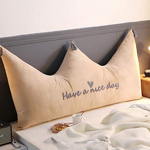 Crown Headboard Kissen,sofa Rückenlehne Tatami Lesen Rückenkissen Weich Taille Langekissen Mit Abnehmbaren Waschbar-e 180x80cm(71x31inch) -