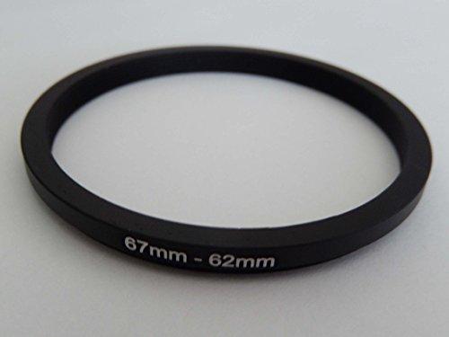 vhbw Step Down Adapter Ring Filteradapter 67mm-62mm schwarz für Kamera Canon EF 24-85 mm 3.5-4.5 USM -