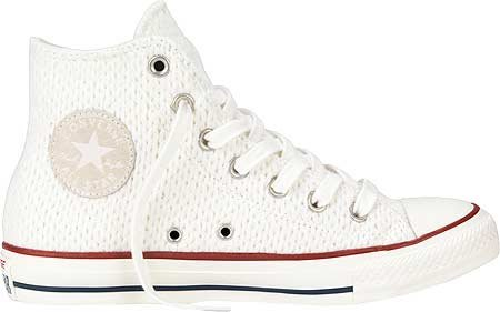 Converse All Star Hi Wool-winter Knit, Hi-Top Sneakers femme - White/Egret