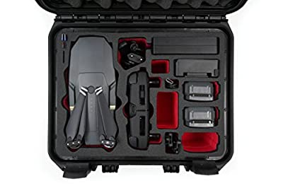 Carrying Case For DJI Mavic Pro And Platinum Travelling Edition Premium Waterproof Outdoor Case IP67 Hardcase With Hardfoam Inlay For 5 Batteries And Plenty Accessories