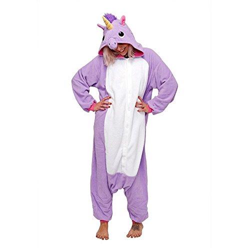 Kostüme Besten Am Aus (Einhorn Kostüm Erwachsene Tier Jumpsuits Onesie Pyjama Nachthemd Nachtwäsche Cosplay Overall Hausanzug Fastnachtskostuem Karnevalskostüme Faschingskostüm Kapuzenkostüm (S: Für Ihre Höhe :150 - 160cm,)