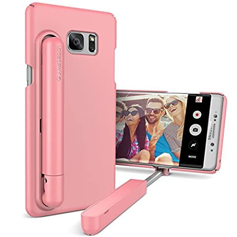 VRS Design Apple iPhone 7 Plus Hülle mit Cue Selfie Stick Stange | Foto-Stab in Pink | Foto Hilfe | Smartphone Zubehör | Handy-Case Cover