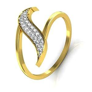 Avsar Real Gold and Diamond Swara Ring TAR031A (10.0)