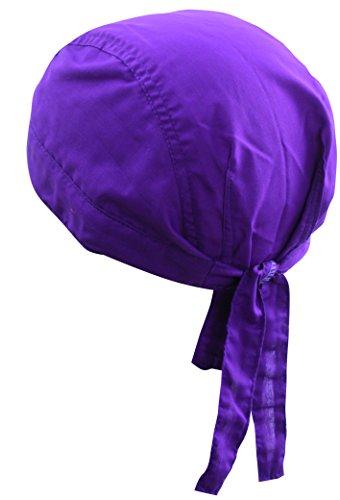 Bandana Cap 100% Baumwolle in über 80 verschiedenen Farben und Mustern, Lila , One Size