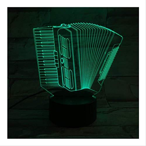 Night Lights Visuelle Lampe Orgel Music 3d Optische Phantom Meter Stimmung Touch & Remote Control 7 Farbwechsel Home Lampe Neuheit Kind Gift 3d (Stimmung Meter)