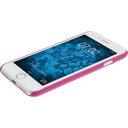 PhoneNatic Case für Apple iPhone 7 Hülle pink Damask Hard-case für iPhone 7 + 2 Schutzfolien Pink