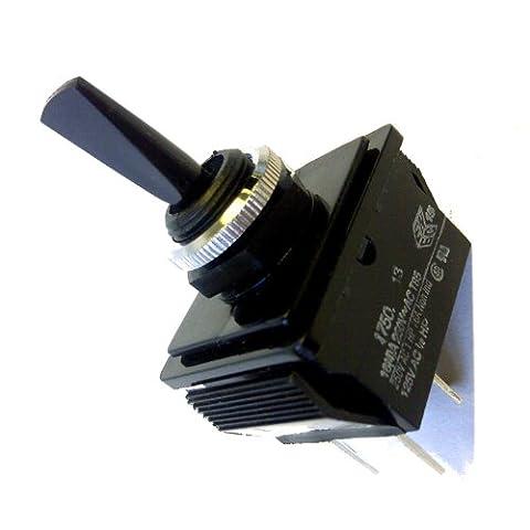 Switch-Toggle On/Off 16amp 250V Double Pole Black